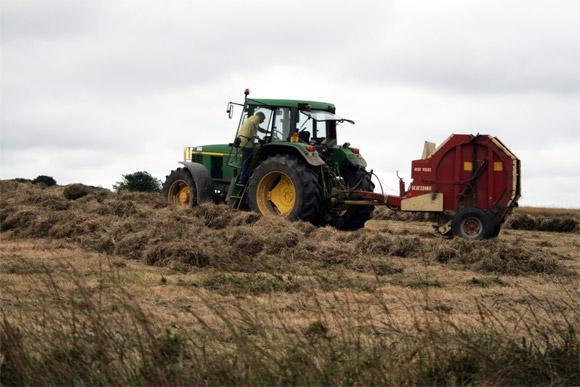Les agriculteurs fauchent les landes du vergam et du Cragou