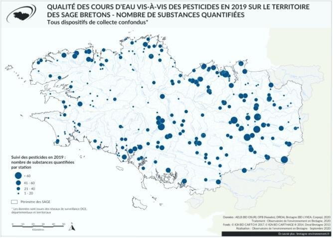 qualite-cours-eau-bretagne-pesticides-2019-carte