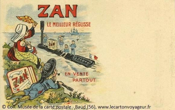 Carte postale publicitaire de la Bretagne