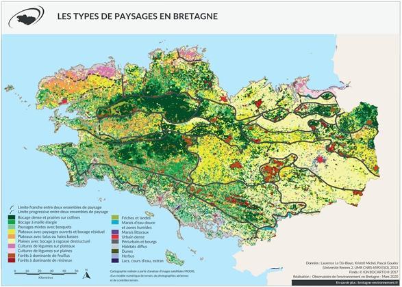 Les types de paysages en Bretagne