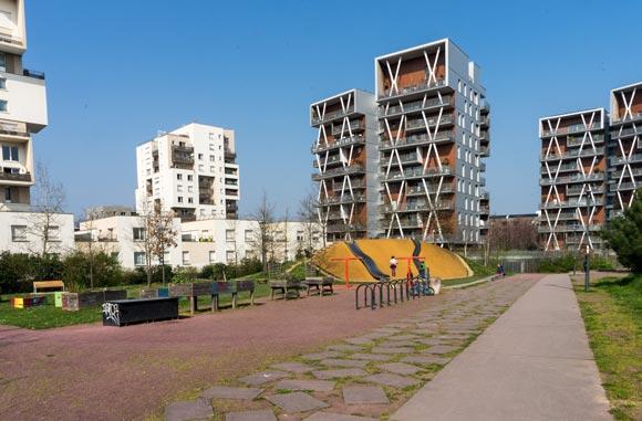 Le quartier de la Courrouze à Rennes