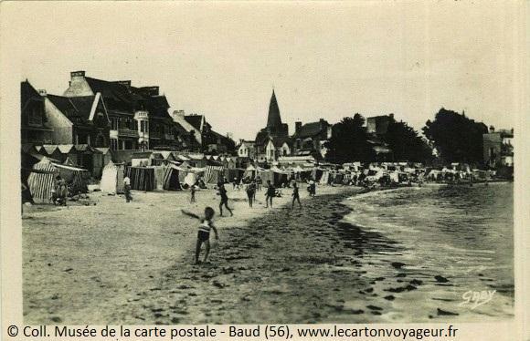 Carte postale ancienne de Larmor Plage
