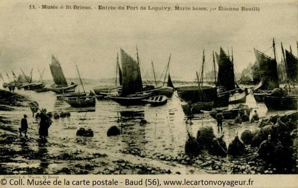 Carte postale ancienne du port de Loguivy