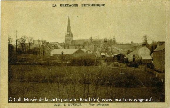 Carte postale ancienne de Guénin : la Bretagne pittoresque