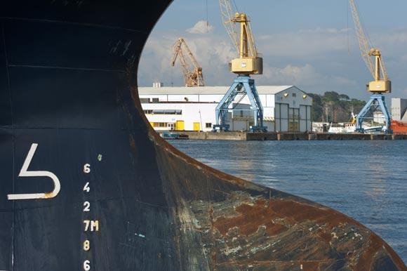 Grues portuaires à Brest