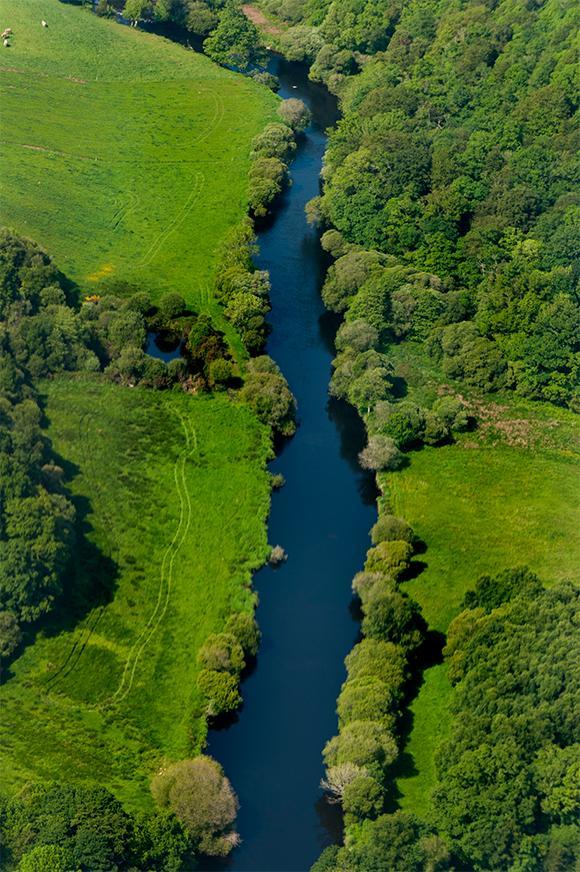 Une rivière en milieu rural breton