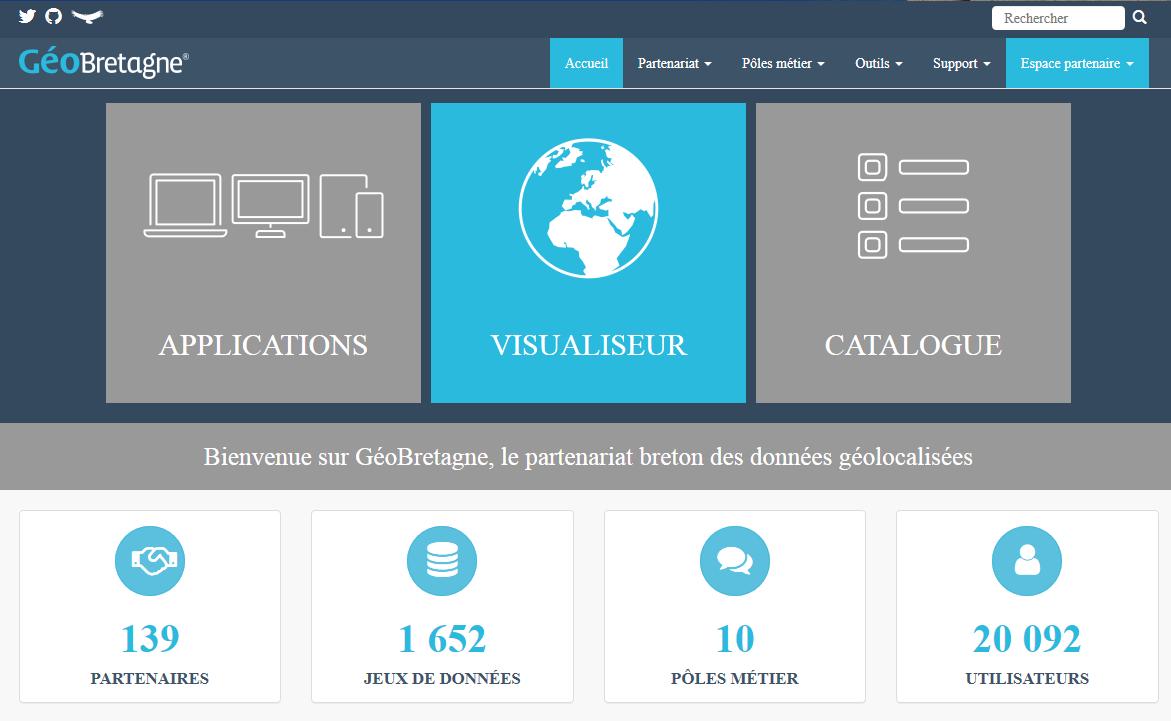 Site web GéoBretagne